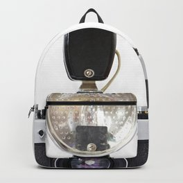 Old film cameras and flash Backpack