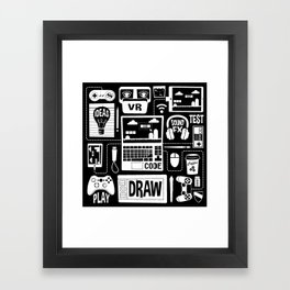 It's a Game Dev World Framed Art Print