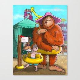 Sasquatch Spotted! Canvas Print