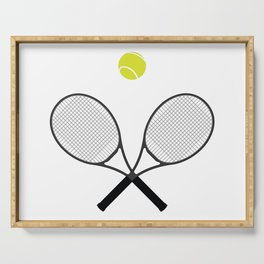 Tennis Racket And Ball 2 Serving Tray