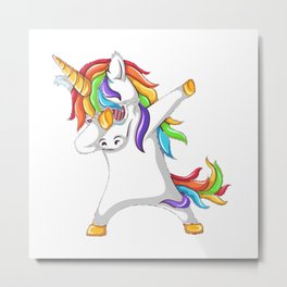 dubbing unicorn Metal Print