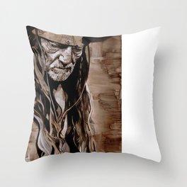 Sepia Willie Throw Pillow