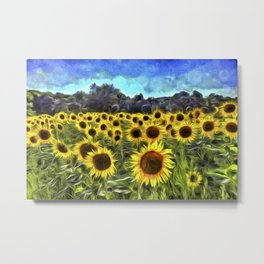 Sunflower Fields Of Dreams Van Goth Metal Print