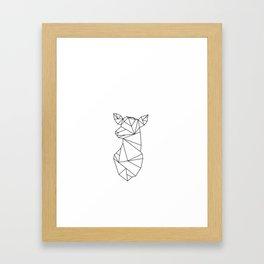 Geometric Doe (Black on White) Framed Art Print