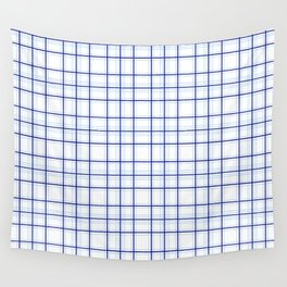 Line ligné 3 blue prince of wales check Wall Tapestry