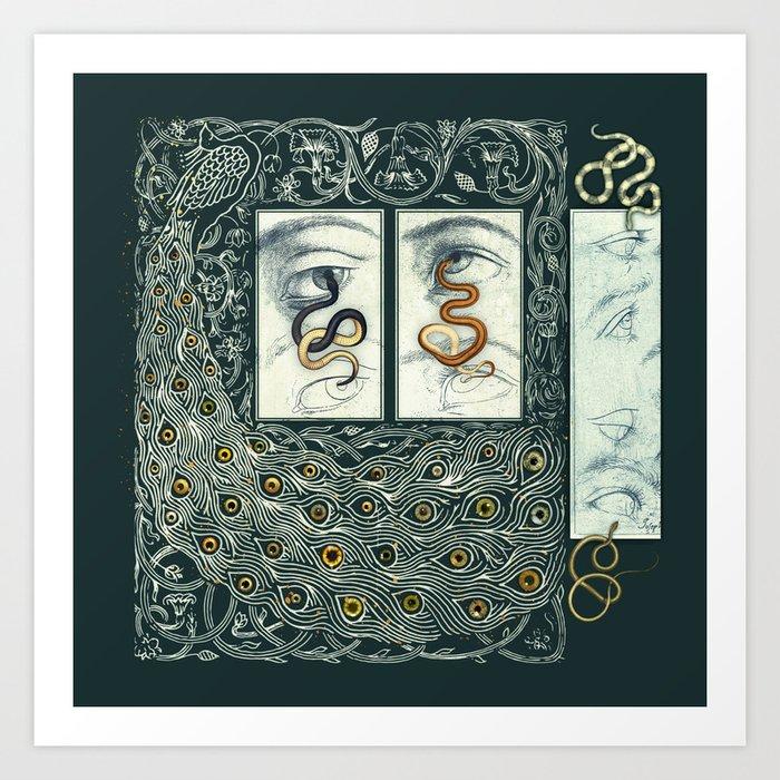 Snake Eyes :: Fine Art Collage Art Print
