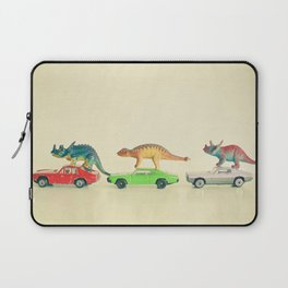 Dinosaurs Ride Cars Laptop Sleeve