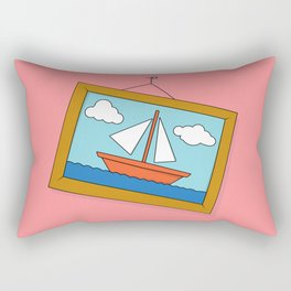 Scene from Moby Dick on pink Rectangular Pillow