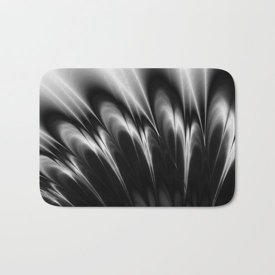 Black and White Elegance Bath Mat