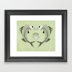 fishbones Framed Art Print