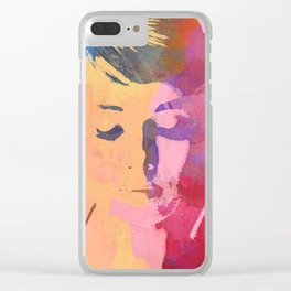 water color portrait Clear iPhone Case
