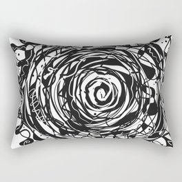 Black and White Abstraction #3 Rectangular Pillow