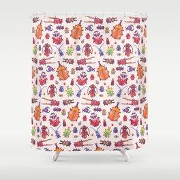 Beetle - pastel Shower Curtain