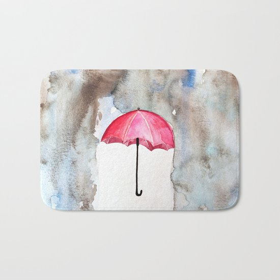 The Red Umbrella Bath Mat