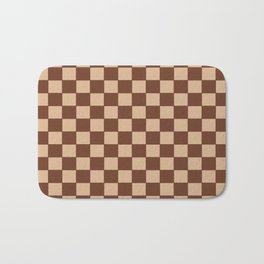 Checkers - Brown and Beige Bath Mat