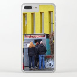 Old photo booth in Berlin (photo machines) _755 Clear iPhone Case