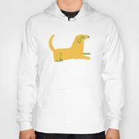 lab Hoodies featuring yellow lab  by sarah green