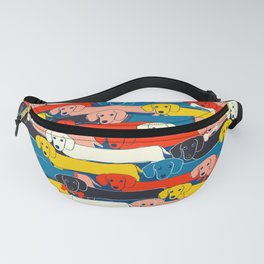 COLORED DOGS PATTERN 2 Fanny Pack