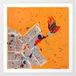 Letter Trail by Nadia J Art Art Print
