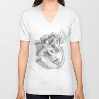 jellyfish V-neck T-shirts featuring Jellyfish by Bea González