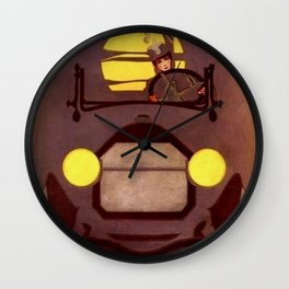 """Coles Phillip's 'Fadeaway Girl' Illustration  """"The Roadster"""" Wall Clock"""
