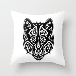 Dire Wolf - Black Throw Pillow
