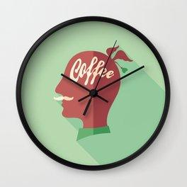 Coffee Head Wall Clock