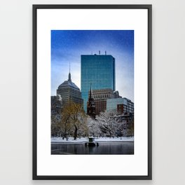 Winter in Boston Framed Art Print