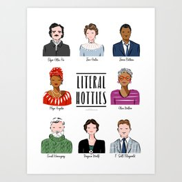 Famous Writers - Literal Hotties Art Print