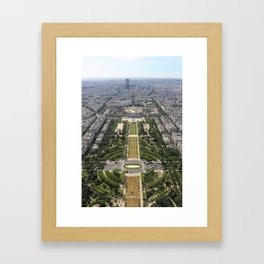 Aerial view of The Champ de Mars from the Eiffel Tower Framed Art Print