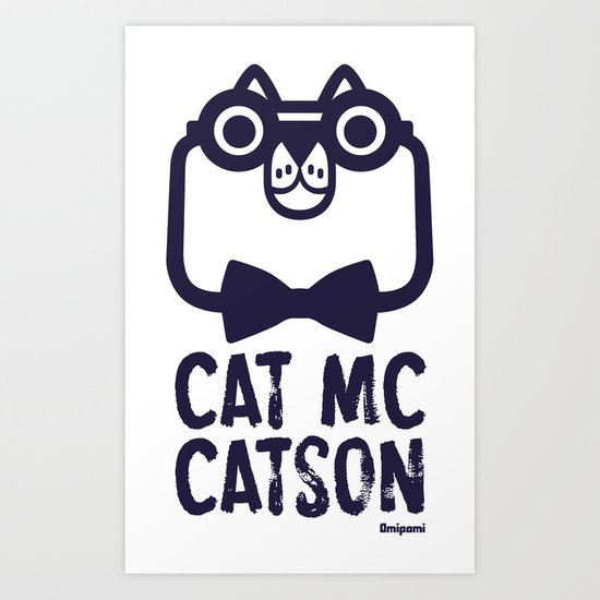 Cat Mc Catson Art Print