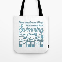 Swimming Mimi Tote Bag