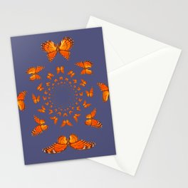MONARCH BUTTERFLIES MATING ART GREY ABSTRACT Stationery Cards