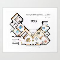 Frasier's Apartment Houseplan - V.2 Art Print