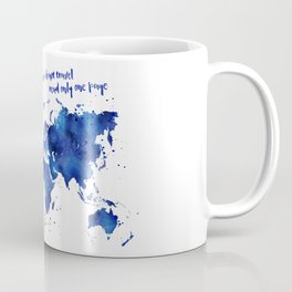 The world is a book, world map in shades of blue watercolor Coffee Mug