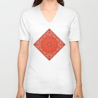 tupac V-neck T-shirts featuring red bandana by Marta Olga Klara