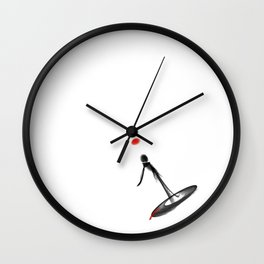 Whattheline iconic artworks Wall Clock