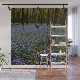 Forget-Me-Not Forest Wall Mural