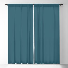 Teal The World (Blue) Blackout Curtain