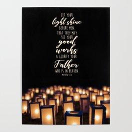 Matthew 5:16 Poster