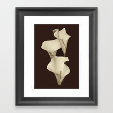 Cream Calla Lilly. Framed Art Print