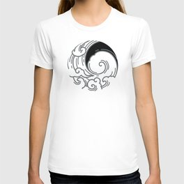 Japanese Circle 5 Big Wave T-shirt