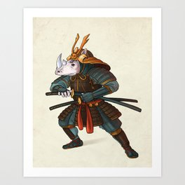 Rhino - Samurai Art Print