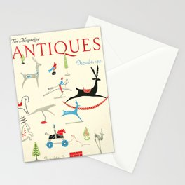 The Magazine ANTIQUES December 1951 cover Stationery Cards