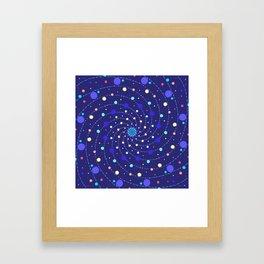 Blue Ray Star Mandala Framed Art Print
