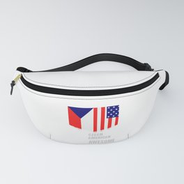 50% Czech 50% American 100% Awesome Immigrant Fanny Pack