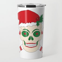 Creepy Christmas Santa Skull Travel Mug