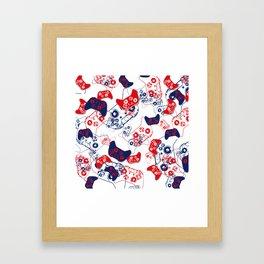 Video Game Red White & Blue 3 Framed Art Print