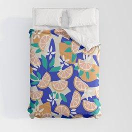 Mediterranean Summer / Lemons and Leaves Comforters