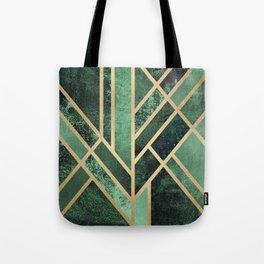 Art Deco Emerald Tote Bag